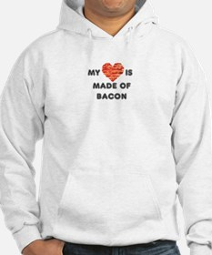 My heart is made of bacon Hoodie