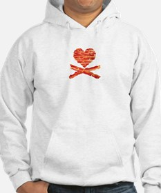 Bacon Heart and Crossbones Hoodie