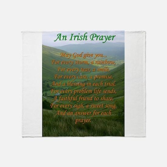 Irish Prayer Throw Blanket
