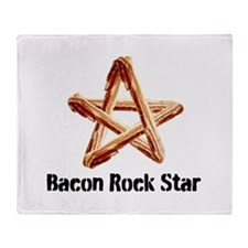 Bacon Rock Star Throw Blanket