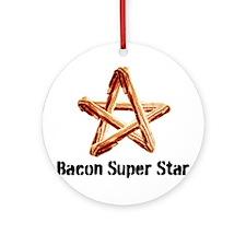 Bacon Super Star Ornament (Round)