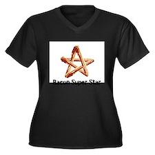 Bacon Super Star Plus Size T-Shirt