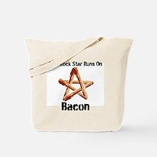 Bacon Super Star Runs on Bacon Tote Bag