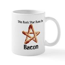 Bacon Super Star Runs on Bacon Mugs