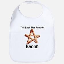 Bacon Super Star Runs on Bacon Bib