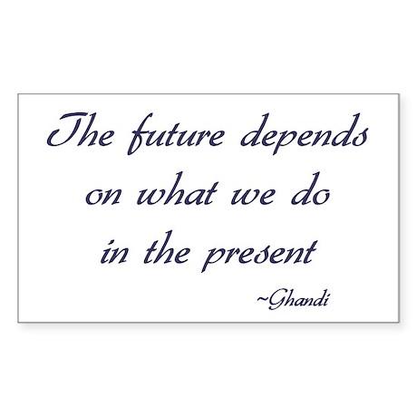 Ghandi quote Rectangle Sticker