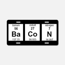 Periodic Bacon Aluminum License Plate