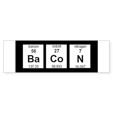 Periodic Bacon Bumper Sticker