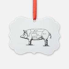 Pig Diagram Ornament