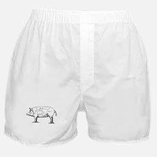 Pig Diagram Boxer Shorts