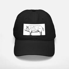 Pig Diagram Baseball Hat