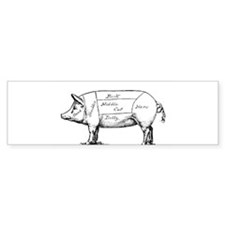 Pig Diagram Bumper Bumper Sticker
