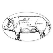 Pig Diagram Decal