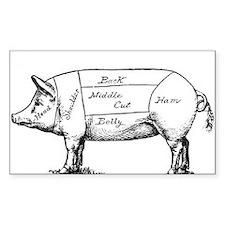 Pig Diagram Decal