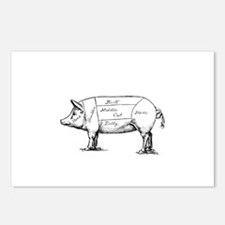 Pig Diagram Postcards (Package of 8)