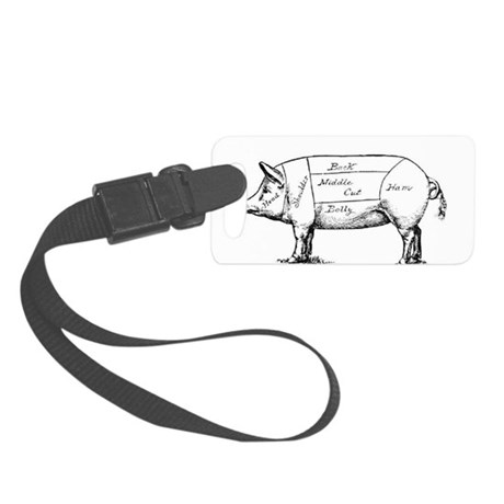 Pig Diagram Luggage Tag