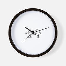 Pig Diagram Wall Clock