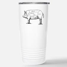 Pig Diagram Travel Mug