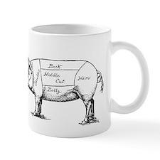 Pig Diagram Mugs