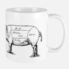 Pig Diagram Mugs