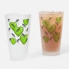 Love Hearts and Dragonflies Luscious Lime Drinking