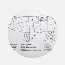 Pig Parts Ornament (Round)