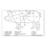 Pig Parts Sticker