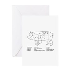 Pig Parts Greeting Cards