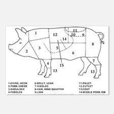 Pig Parts Postcards (Package of 8)