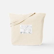 Pig Parts Tote Bag