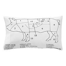 Pig Parts Pillow Case