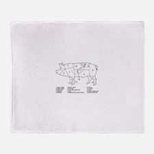 Pig Parts Throw Blanket
