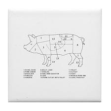 Pig Parts Tile Coaster