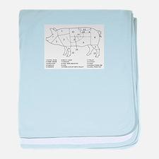 Pig Parts baby blanket