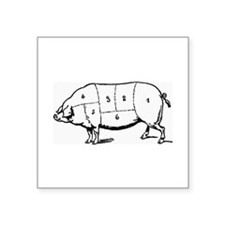 Pig Parts in Numbers Sticker