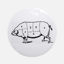 Pig Parts in Numbers Ornament (Round)
