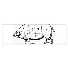 Pig Parts in Numbers Bumper Bumper Sticker