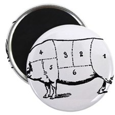 Pig Parts in Numbers Magnets