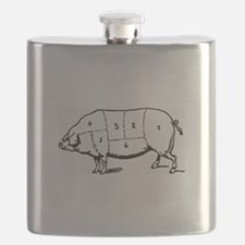 Pig Parts in Numbers Flask