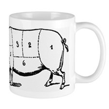 Pig Parts in Numbers Mugs