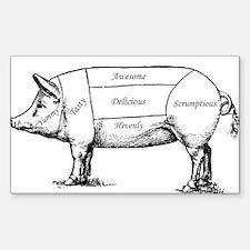 Tasty Pig Decal