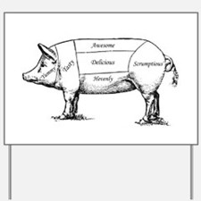 Tasty Pig Yard Sign