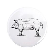 """Tasty Pig 3.5"""" Button"""