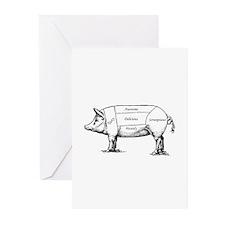 Tasty Pig Greeting Cards