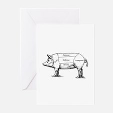 Tasty Pig Greeting Cards