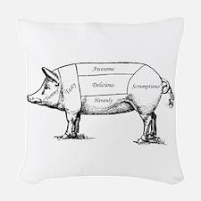Tasty Pig Woven Throw Pillow