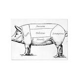 Pig 5x7 Rugs