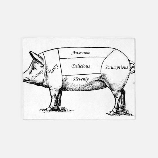 Tasty Pig 5'x7'Area Rug