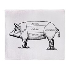 Tasty Pig Throw Blanket