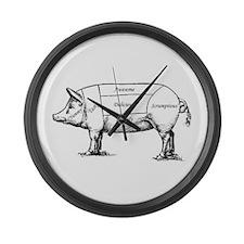 Tasty Pig Large Wall Clock